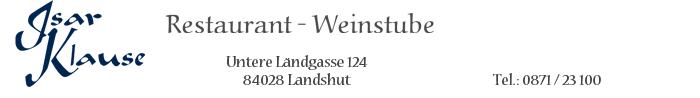 Isarklause Restaurant – Weinstube in Landshut